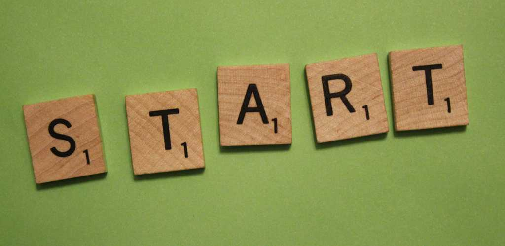 Start blogu - pět kostiček ze scrabble