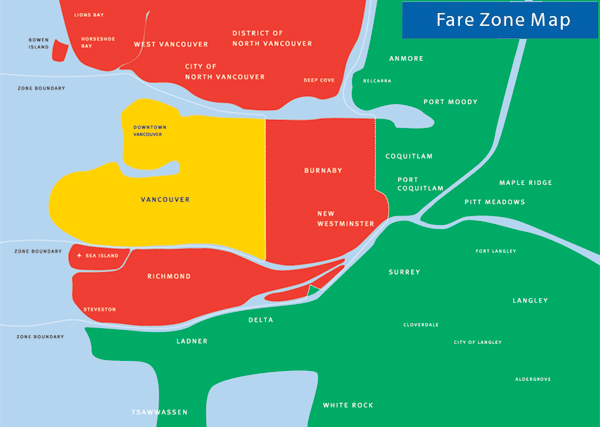 Fare zone map