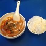 Hovězí na curry a kokosovém mléce + jasmínová rýže.