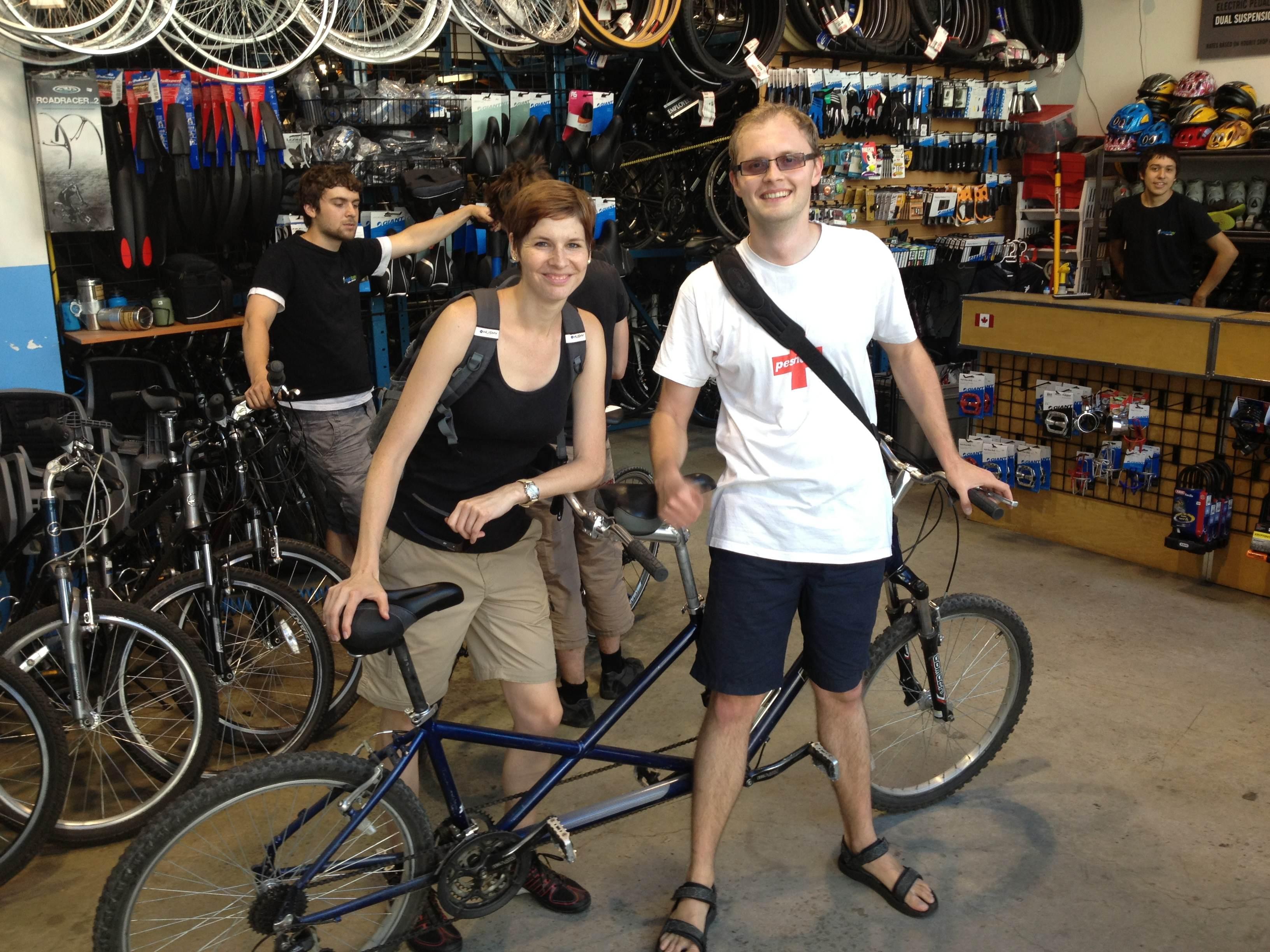 Půjčili jsme si tandem bike