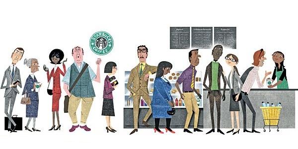 Starbucks fronta