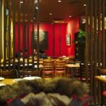 Pohled od zadního traktu restaurace