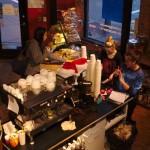 Srdce kavárny - stroj na espresso