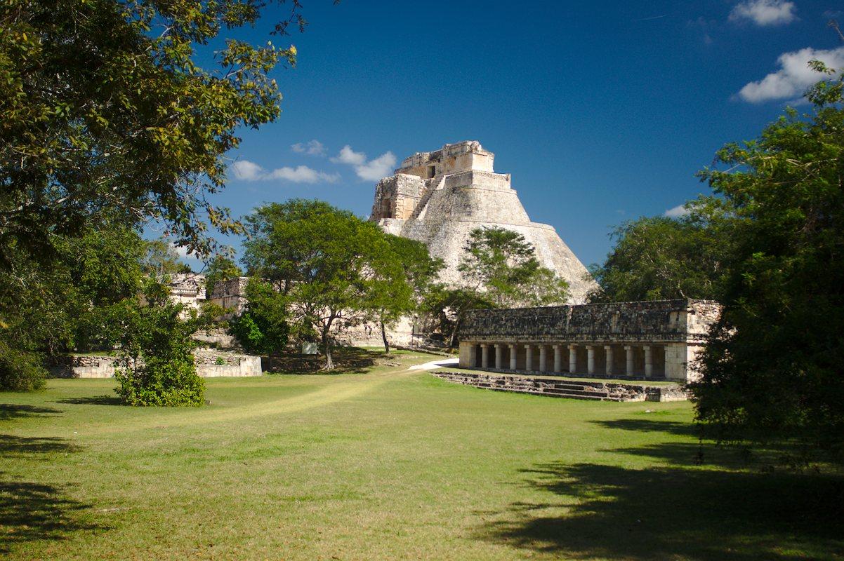 Hlavní pyramida v Uxmal