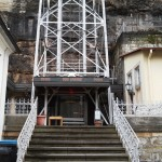 Vstup k výtahu u paty - Bad Schandau
