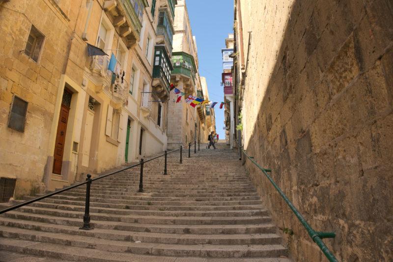 Roztomilé uličky ve Vallettě