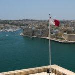 Pohled z Valletty na Birgu, Senglea a Cospicua