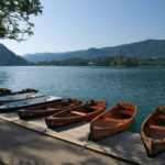Loďky na bledském jezeře
