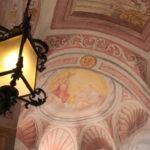 Stropní malby v kapli na hradě