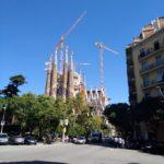 pohled na La Sagrada Familia